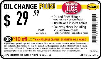 Oil change coupons nashville tn