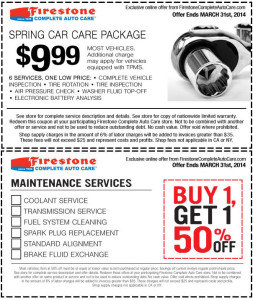 $9.99 Firestone Spring Car Care Package