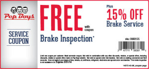 pep-boys-15-off-march-2014-brake-service