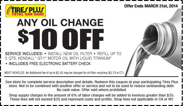Tire Kingdom Oil Change >> Tires Plus Coupons Archives - Cheap Oil Change Coupons