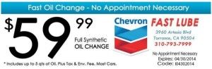 Chevron_Discount Full Synthetic Oil Change Coupon - April 2014