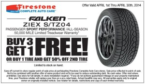 Firestone_Falken Ziex S TZ04 - Free Fourth Tire w Coupon