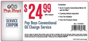 Pep Boys_Discounted Pep Boys Oil Change & Tire Rotation in April