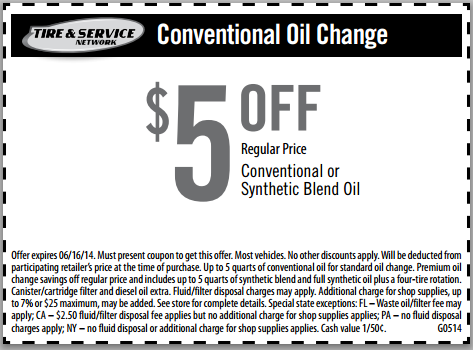 Save 5 Goodyear Oil Change Coupon Cheap Oil Change Coupons