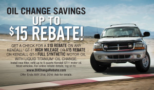 Firestone synthetic oil change rebate