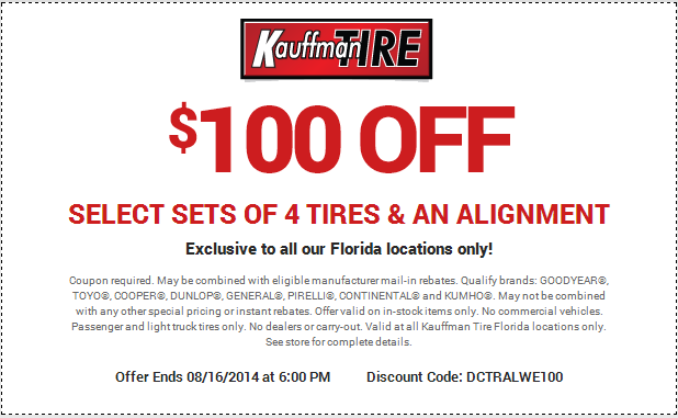 Discount tire coupon