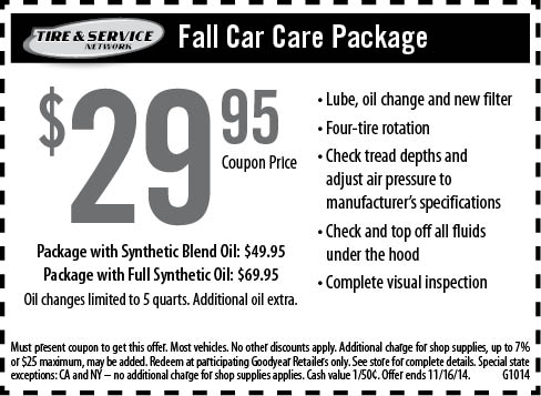 Save $10 off Goodyear Oil Change with Printable Coupon – (Click the above link to get this coupon) Did you know that Amazon now has coupons for hundreds of items – see what savings they have available HERE.