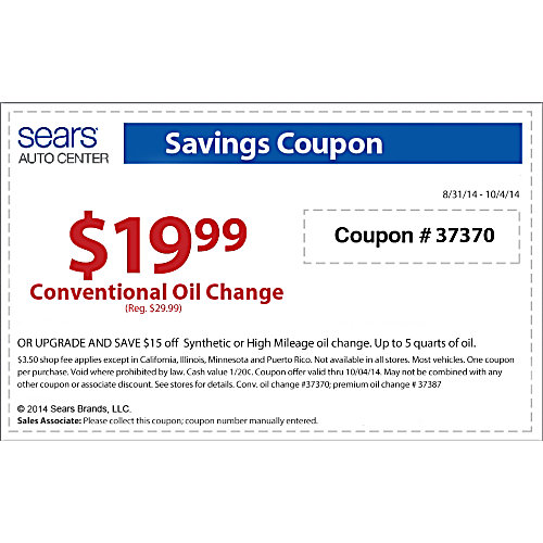 Sears tv coupon in store