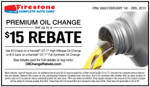 FIRESTONE COMPLETE AUTO CARE COUPONS. We all like saving money. And at Firestone Complete Auto Care, we're determined to keep more of it in your wallet. Every chance we get. How do we do it? We offer you practical advice on keeping your car running newer, stronger and longer.