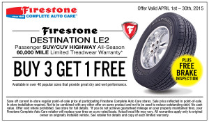 Firestone Destination LE2 Coupon 2015